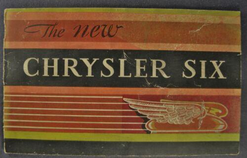 1930 Chrysler Six 6 Brochure CJ Sedan Touring Car Roadster Coupe Original 30