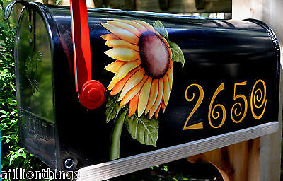 Mailbox Magnet Partial Cover Door Sunflower Blk Mail Box Personalized  -