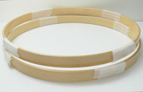 """NEW High-End SONOR 22"""" Canadian MAPLE BASS DRUM HOOPS Set, NATURAL LACQUER"""