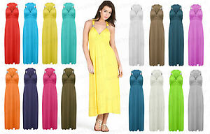 Ladies-Long-Stretch-Womens-Maxi-Dress-Coil-Spring-One-Size-Womens-Sleeveless