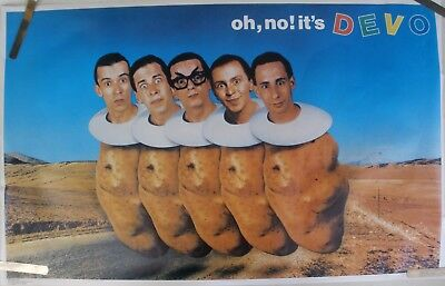 RARE OH NO IT'S DEVO 1982 VINTAGE ORIGINAL MUSIC POSTER