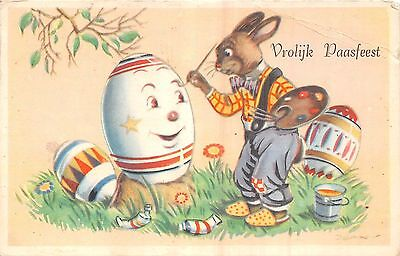 POSTCARD  COMIC   Eater  Related    EGGS  &  Rabbits