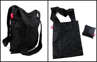 Victoria's Secret Pink Folding Tote Lightweight Gym Beach Bag - Black/Gray - NWT (Black Beach Bag)