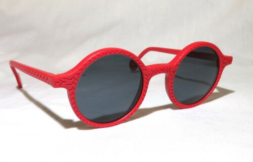 New Vtg 1991 L.A. Eyeworks Retro Abstract Sunglasses - Red CHINO