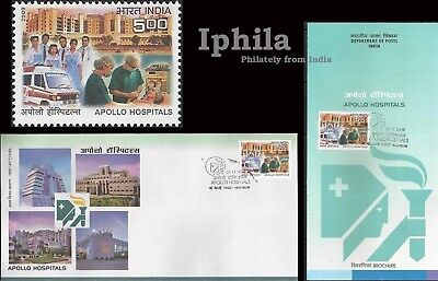 Apollo Hospital Fdc Folder Doctor Nurses Medicine Health India Surgery Medical