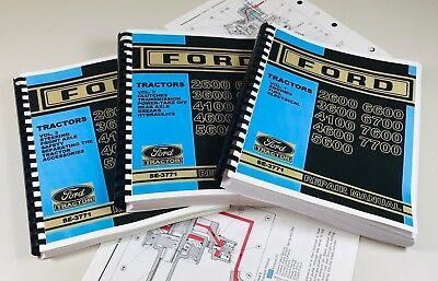 Ford 2600 3600 4100 4600 5600 Tractor Service Repair Manual Color Schematics