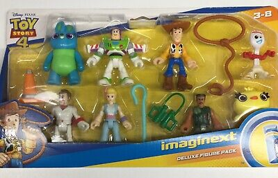 Imaginext Deluxe Figure Set Disney Toy Story 4 Figure Fisher Price Woody Buzz