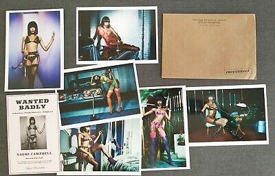 AGENT PROVOCATEUR Naomi Campbell Dessous Nylons Prospekt Brochure Mappe 45