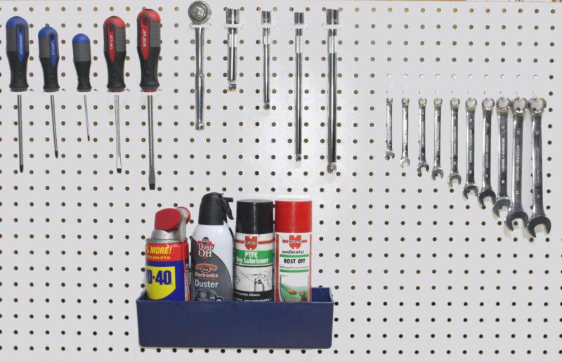 Plastic 71 pc Peg Hook Kit & Bin Assortment PEGBOARD NOT INCLUDED