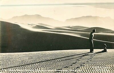 White Sands National Monument  Alamogordo  New Mexico Real Photo Postcard  A