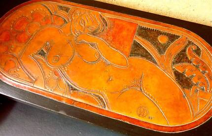 Peter Wallace - Carved table by Castlemaine Artist