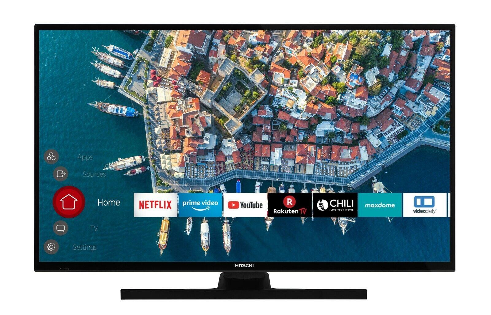 Hitachi F39E4100 Fernseher 39 Zoll Full HD Triple Tuner Smart TV PVR Bluetooth