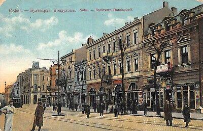 AK Sofia Boulevard Dondoukoff Geschäfte Strasse Postkarte vor 1920