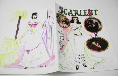 VTG PAPER DOLLS 1994 GONE WITH THE WIND SCARLETT by ALEX GONZALES VIVID COLOR!!