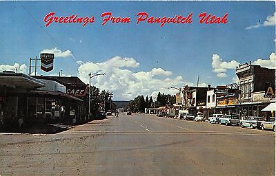 Panguitch Utah Greetings US Highway 89 Vintage Postcard (J7600)