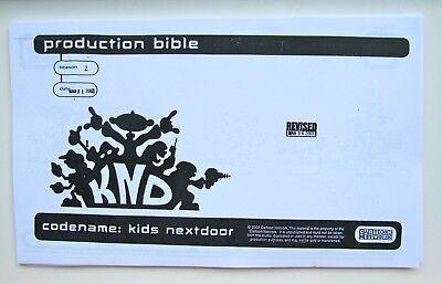 KND CODENAME: KIDS NEXT DOOR CARTOON NETWORK PRODUCTION BIBLE DESIGN MODEL PACK