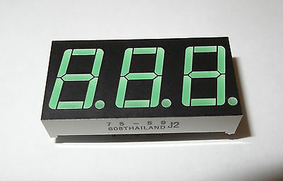 7-segment 3-digit Common Anode Led Display. 1d2