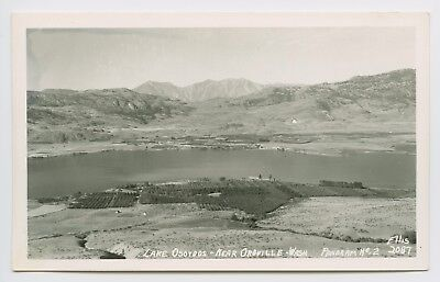 Rppc   Oroville  Wa   1940S View Of Lake Osovoos   Farm Land And Mountains