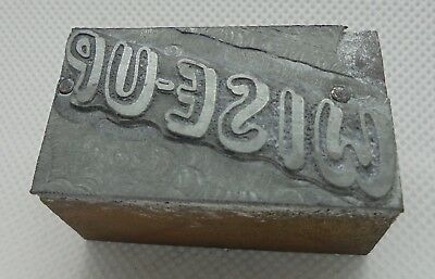 Vintage Printing Letterpress Printers Block Wise Up
