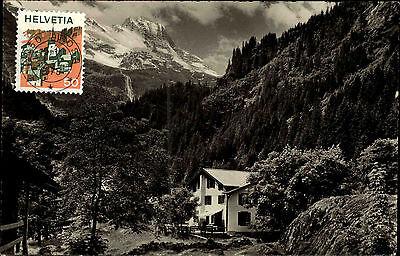 Trachsellauenen Kanton Bern s/s AK 1975 Blick auf die Pension Schmadribach Wald