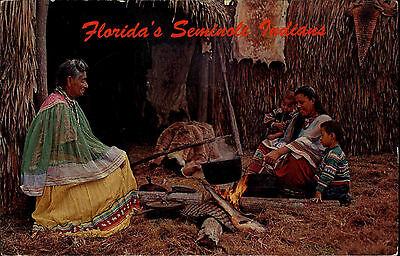 Florida Amerika USA 1966 Seminole Okalee Indian Village Indianer Trachten Ethnic