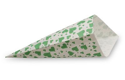 1.000 Mandel - Spitztüten für 250g Motiv Herzen grün Papiertüten Fruchtgummi