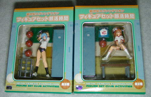 "NEW ""NEON GENESIS EVANGELION CLUB ACTIVITIES"" REI & ASUKA Complete Set SEGA"