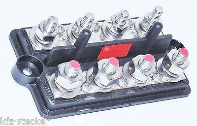 4 Punkt M10 M6 Stromverteiler Minuspol Verteiler Masse Strom Batterie