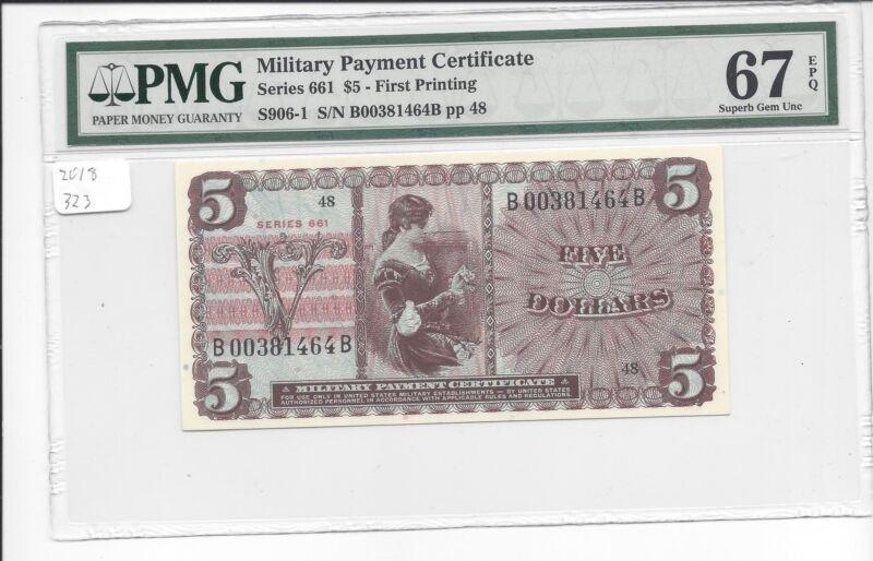 MPC Series 661  5 Dollars  PMG  67EPQ  SUPERB GEM UNC