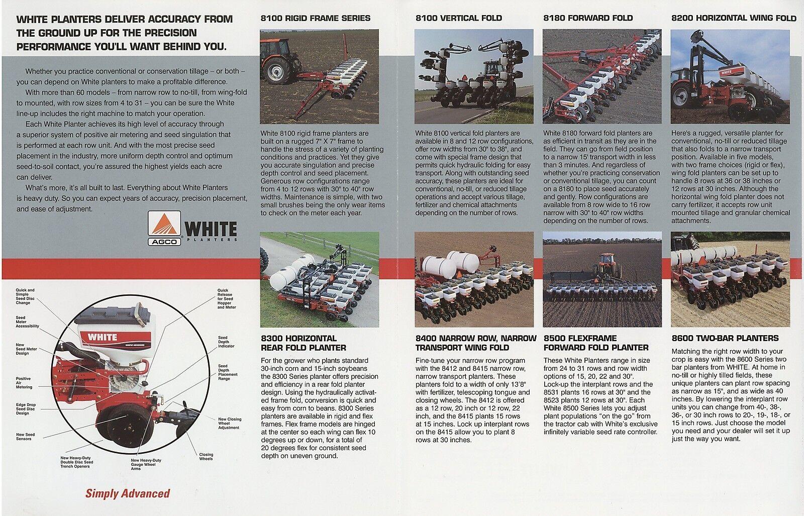 Prospekt USA AGCO White Planters 2002 Landmaschinen ...