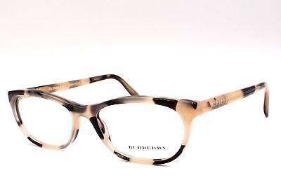 NEW AUTHENTIC BURBERRY B 2180 3501 Beige Horn Women's Eyeglasses 52mm ITALY