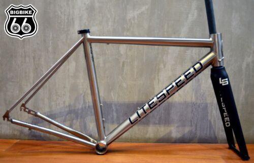 Litespeed T3 (di2 Compatible ) Titanium Frame +  Tapered Carbon Road Fork( M/l)