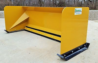 7 Snow Pusher Box Skid Steer Snow Plow Bobcat Case Kubota Local Pick Up-rtr