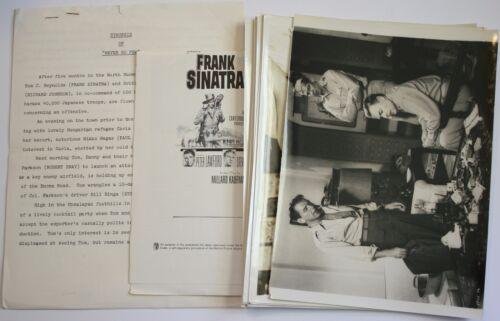 "1959 ""Never So Few"" Press Kit w/18 Photos Frank Sinatra Gina Lollobrigida Stills"