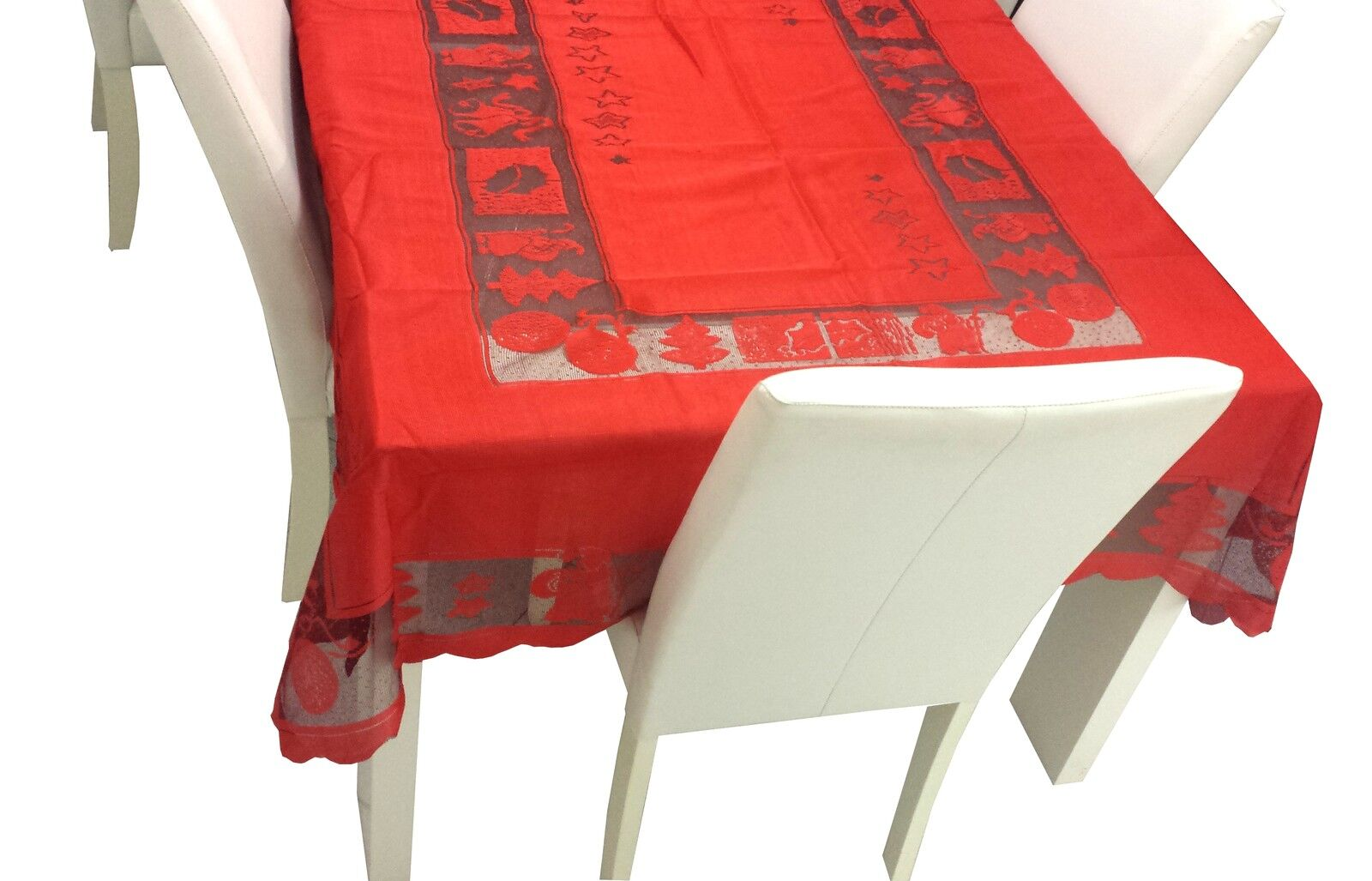 Red christmas xmas table cloth 150x230cm 6 8 seat for 10 seater table cloth