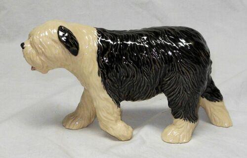 RARE HEREDITIES ENGLISH SHEEP DOG  - PORCELAIN CREAMWARE - EXC COND