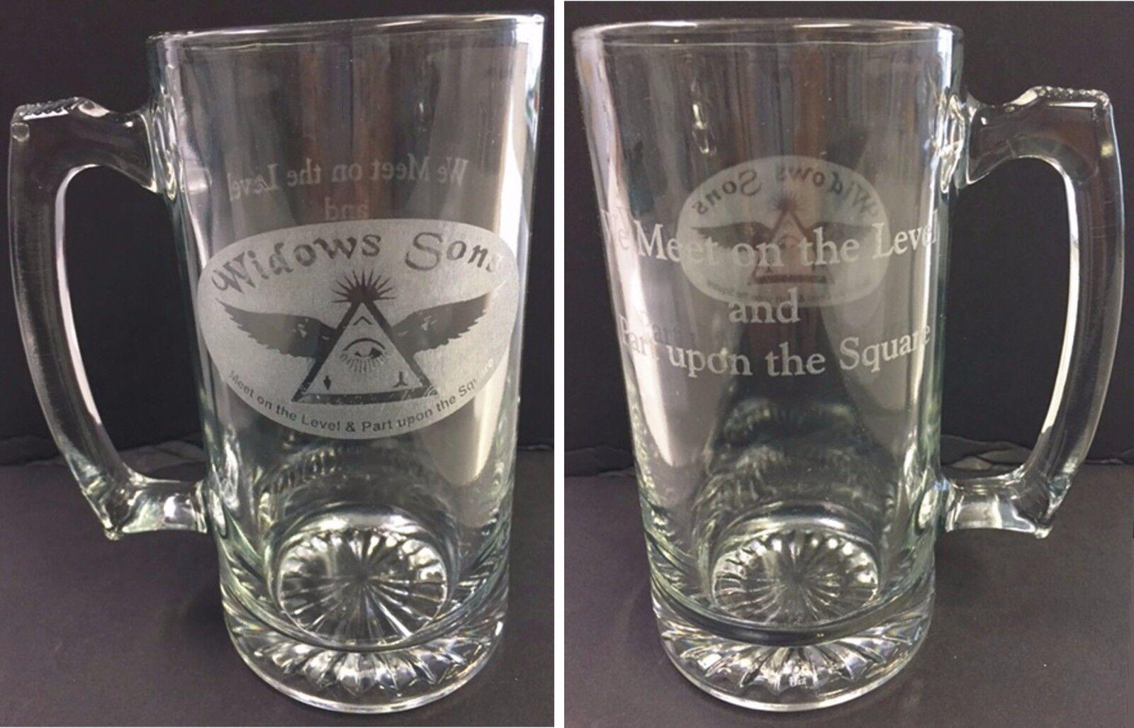 b8d94fcc8 Laser Engraved Masonic Widows Sons 25 oz Sports Mug with saying on ...