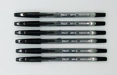 Pilot Bp-s-m 1mm M Ball Point Pen Black 6pcs C