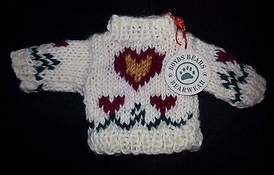 The Boyds Bears Wool Heart Themed Sweater Bear Doll Clothing Bearwear