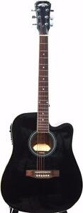 Black acoustic electric guitar for beginners iMusic219 brand new