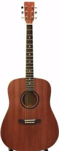 Free Shipping ! Solid Top Mahogany Acoustic Guitar 41 inch full size iTS1600