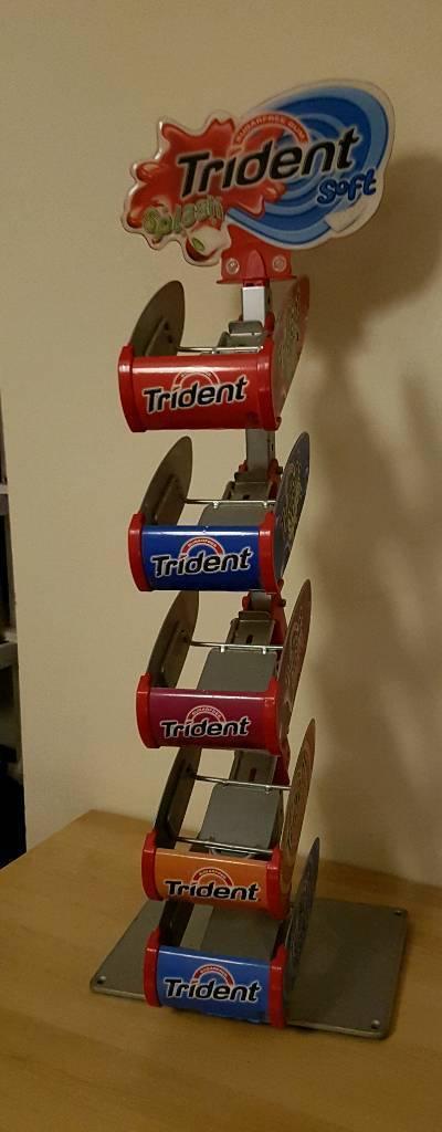 Trident chewing gum rack holder. Good advertising memorabilia