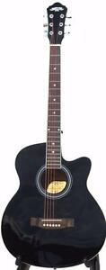 Acoustic Electric Guitar Black iMusic216 installed EQ 40 inch Full size