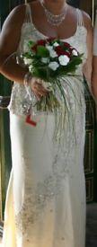 BEAUTIFUL HANDMADE 2 PIECE WEDDING DRESS SIZE LARGE
