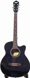 Acoustic Electric Guitar for beginners 40 inch Black iMusic216