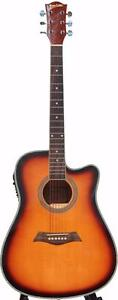 Sunburst acoustic electric guitar for beginners iMusic230 brand New