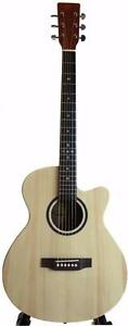 Free Guitar Stand eTuner and 5 picks with iTS3500 Solid top Spruce Acoustic Guitar