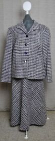 Woman's Eastex Wool Mix Tweed Suit with Jacket and Bias Skirt