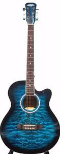 Blue Acoustic guitar for beginners 40 inch iMusic210 brand new