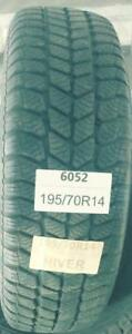 PNEUS HIVER USAGÉS / USED WINTER TIRES 195/70R14 19570R14 ULTRA TRACTION TECHNO (2 DE DISPONIBLES)